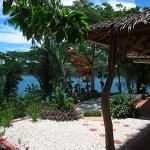 The garden corner overlooking Puerto Galera