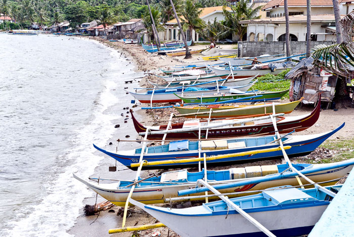 Local fishing boats at Hondura Beach